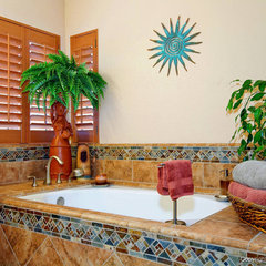 tropical bathroom by Remodel Works Bath & Kitchen