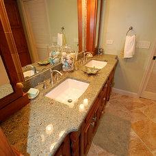 Tropical Bathroom by Brooke Eversoll, CKD, CBD – S&W Kitchens, Inc.