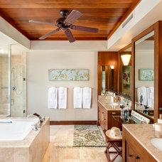 Tropical Bathroom by Ethan Tweedie Photography