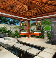 tropical bathroom by Ethan Tweedie Photography