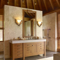 tropical bathroom by Philpotts Interiors