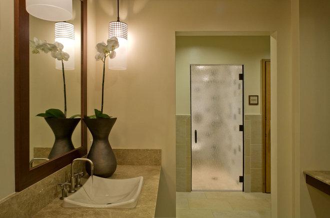 Tropical Bathroom by Philpotts Interiors