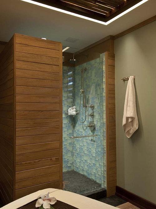 Tropical Bathroom Tile Ideas : Stand alone shower bathroom design ideas remodels photos