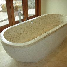 Tropical Bathroom by Tervola Designs