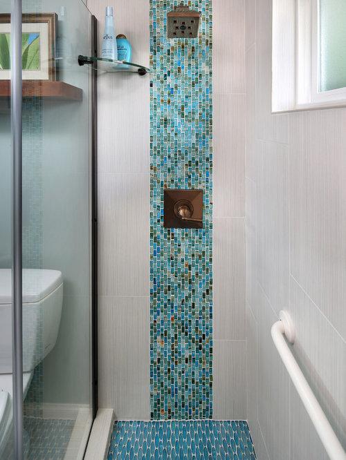 Tropical Decorative Tile Accents. Tile Inserts Bathroom Design Ideas, Remodels & Photos