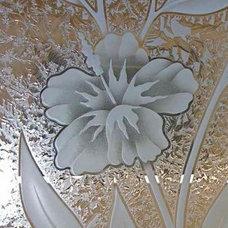 Tropical Bathroom by Sans Soucie Art Glass