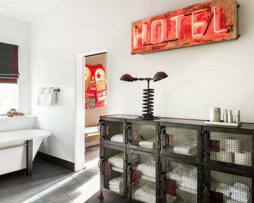 Vintage Industrial Bathroom Design Ideas Remodels Photos