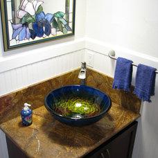 Tropical Bathroom by Eden Bath - Vessel Sinks
