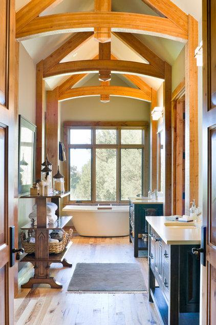 Rustic Bathroom by Alan Mascord Design Associates Inc