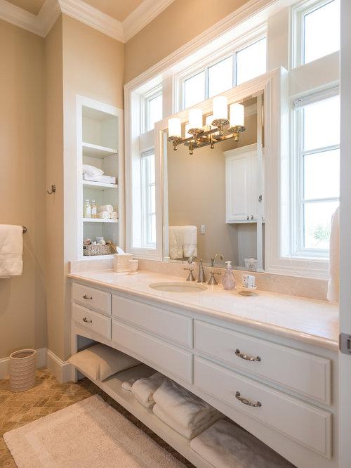 Bathroom Remodel Houston Minimalist open shelf vanity | houzz