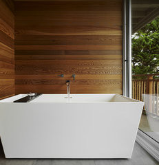 modern bathroom by At-Six Architecture