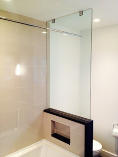 Tub And Shower Curtain Or Sliding Glass Door