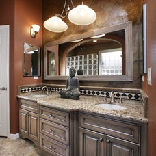 Mediterranean Bathroom by DreamBuilders Home Remodeling