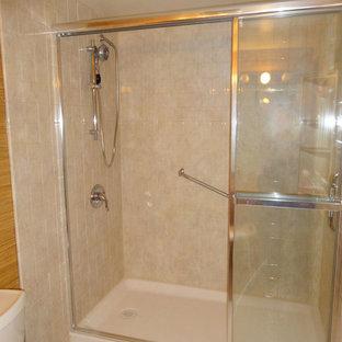Bathroom - small contemporary multicolored tile bathroom idea in Toronto