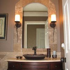 Mediterranean Bathroom by The Kitchen Post Inc