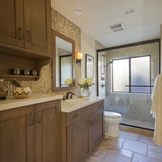 Mediterranean Bathroom by Prideaux Design