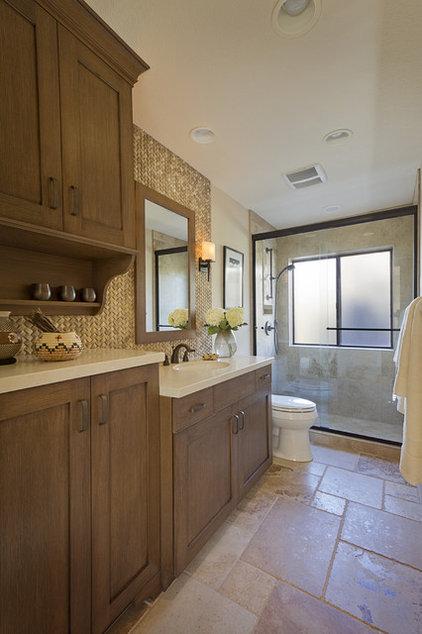 Southwestern Bathroom by Prideaux Design
