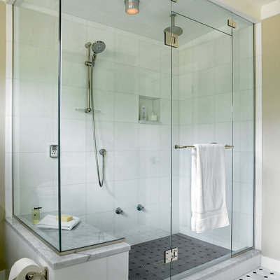Transitional Bathroom by The Sky is the Limit Design