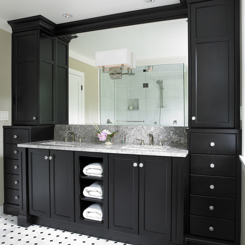 Espresso color cabinets home design ideas pictures for Espresso bathroom ideas