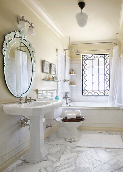 British Colonial Bathroom by Panageries