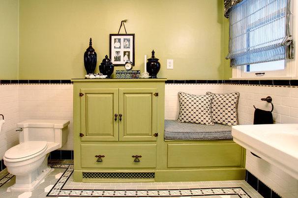 Eclectic Bathroom by Sara Ingrassia Interiors