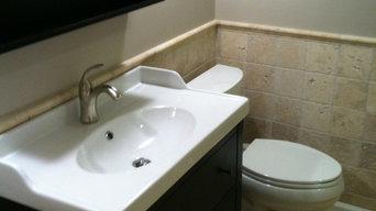 Tumbled Stone Bathroom