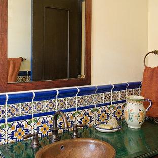 Tuscan bathroom photo in San Diego