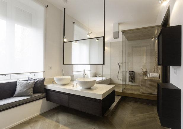 Contemporaneo Stanza da Bagno by G design