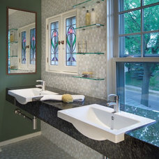 Eclectic Bathroom by JALIN Design, LLC