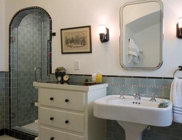 Turquoise Bathroom + Spanish Bathroom