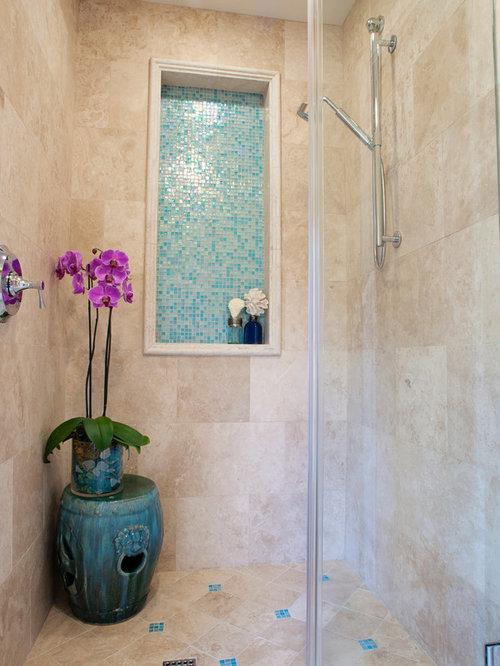 Turquoise glass tile spa bath for Salon turquoise