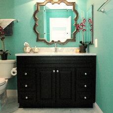 Eclectic Bathroom by RJK Construction Inc