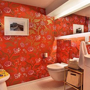 Modernes Badezimmer mit Sockelwaschbecken in Los Angeles