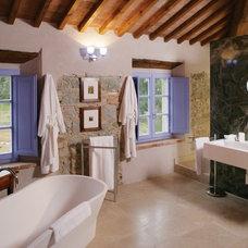Eclectic Bathroom Tuscan-inspired bathroom