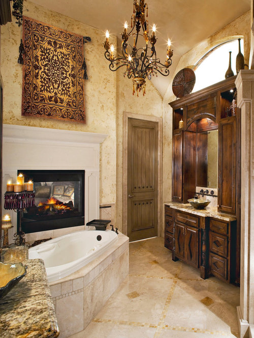Bathroom   Traditional Bathroom Idea In Dallas With A Vessel Sink