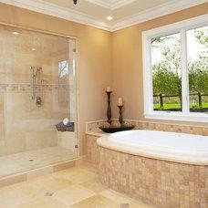 Mediterranean Bathroom by Fautt Homes Corp