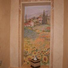 Mediterranean Bathroom by Chelsea McGraw Storybook Murals