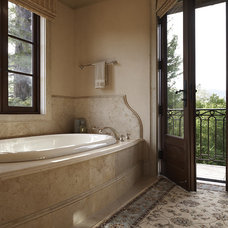 Mediterranean Bathroom by Taylor Lombardo Architects