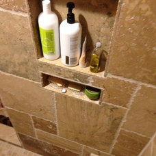 Rustic Bathroom by F & L Tile & Hardwood