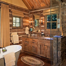 Log Cabin Kitchens and Bathrooms