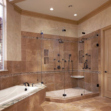 Mediterranean Bathroom by The Viking Craftsman, Inc