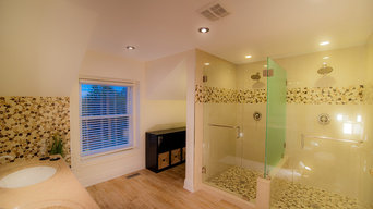 Twin Glass shower enclosure