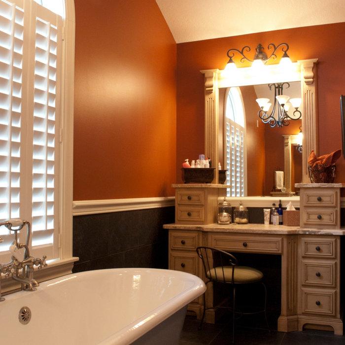 Twisted Traditional Bathroom