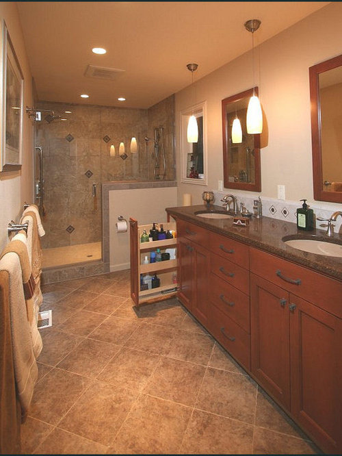 Eclectic Bathroom Design Ideas Renovations Photos With Engineered Quartz Benchtops