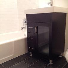 Contemporary Bathroom by Charles & Edward Inc.