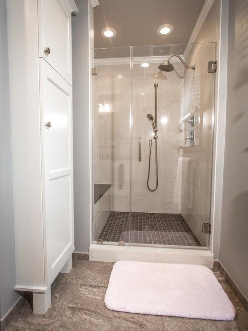 Bathroom design ideas renovations photos with gray tile for 2 piece bathroom ideas