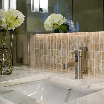 Trendy mosaic tile bathroom photo in Chicago