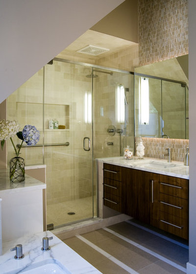 Good Contemporary Bathroom by Claudia Martin ASID