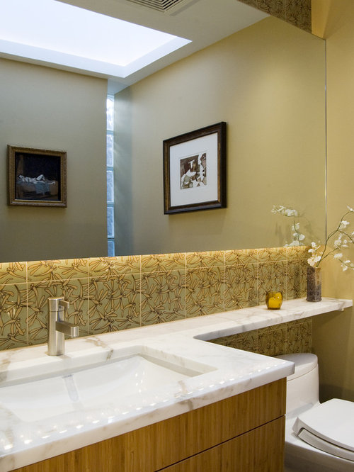 Great Inspiration For A Contemporary Bathroom Remodel In Chicago With Marble  Countertops