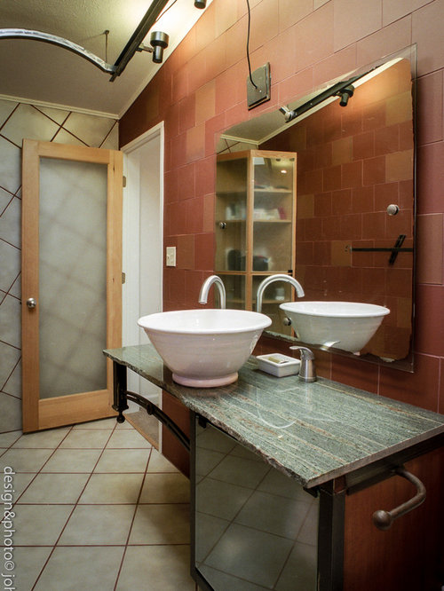 Bathroom and Cloakroom Design Ideas, Renovations & Photos with Red ...